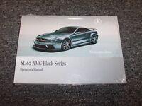 2009 Mercedes Benz Sl65 Amg Black Series Owner Owner's Operator Manual 6.0l V12