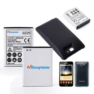 6000mAh Extended Battery with Black Case for Samsung Galaxy Note N7000 i9220