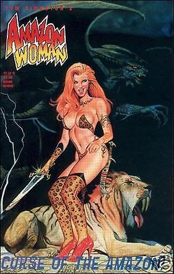 AMAZON WOMAN: CURSE OF THE AMAZON! #4 VF (Fantaco Ent., 1996) original Com. Book