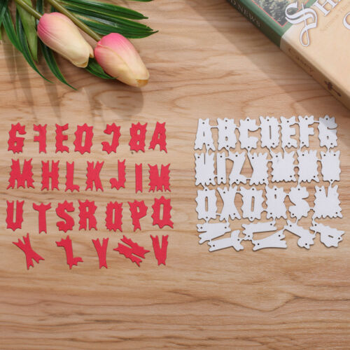 26 Alphabet Letters 0-9 Numbers Metal Cutting Dies Stencils DIY Scrapbooking Fun