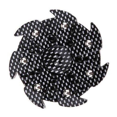 Unique Design Pattern Black and Silver Checkered Fidget Spinner