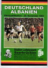 Länderspiel 20.11.1983 Deutschland - Albanien in Saarbrücken, EM-Qualifikation
