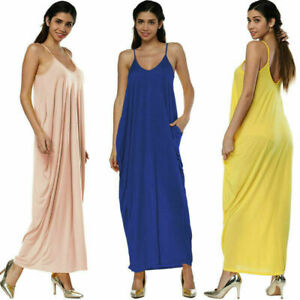 Women-summer-boho-casual-long-maxi-evening-party-cocktail-beach-dress-sundress