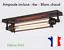 miniature 1 - Lampe noire métal style industriel loft Ampoule LED incluse murale ou plafonnier