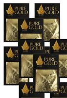 wholesale job lot  24CT Gold Leaf 100% Genuine Scrap Gold Sheets 50 sheets