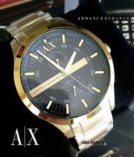 AUTHENTIC ARMANI EXCHANGE AX2122 SMART GOLD TONE BLACK DIAL MEN'S WATCH