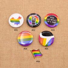 LGBT Pride Rainbow Flag Lapel Pin CAMDEN Button Brooch Support Gay Lesbian Badge
