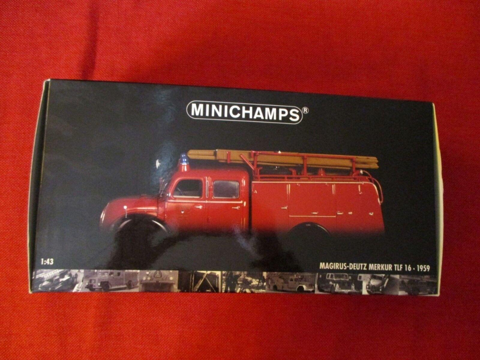 "MINICHAMPS® 439 141070 1 43 Magirus-Deutz Merkur TLF 16 ""Feuerwehr Ulm"" 1959 NEU"