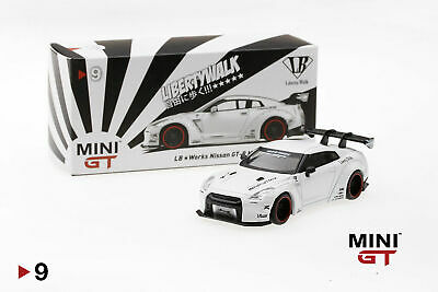 Mini GT 1:64 Mijo Exclusives Nissan GT-R R35 Liberty Walk Type 2 White