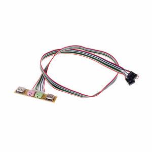 2-USB-PC-Computer-Case-Front-Panel-USB-Audio-Port-Mic-Earphone-Cable-7-8cm-In-PL