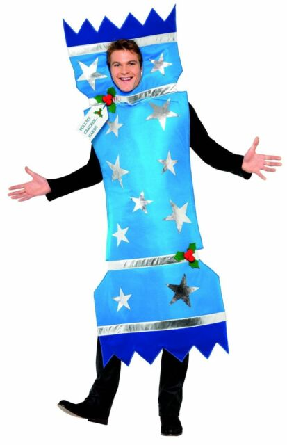 Adult Unisex Christmas Cracker Costume For Fancy Dress Party