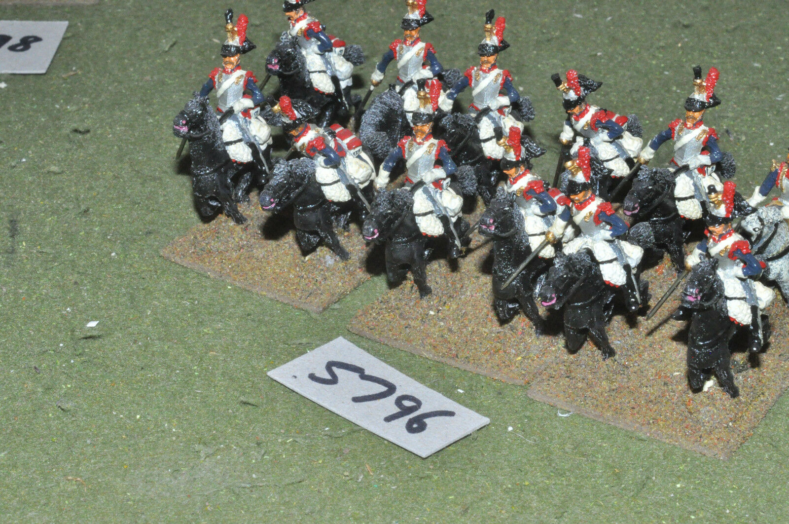 25mm napoleonic   generic - cuirassiers 12 cavalry metal painted - cav (5796)