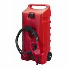 Gas Tank 14 Gallon Pump Portable Rolling Fuel Transfer Can Storage Diesel Boat