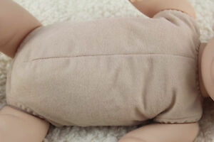 """19""""-20"""" doe suede cloth body for full limbs arms and legs reborn baby doll kits"""