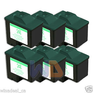 6-BLACK-Lexmark-Ink-Cartridge-16-High-Capacity-LEXMARK-16-10N0016-Reman-16