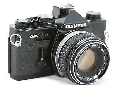 Olympus OM-2N vintage 35mm SLR camera, lens Zuiko Auto-S 1,8/50mm