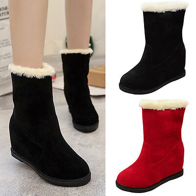 Women Winter Snow Boots Wedge Short Ankle Boots Plush Warm Shoes