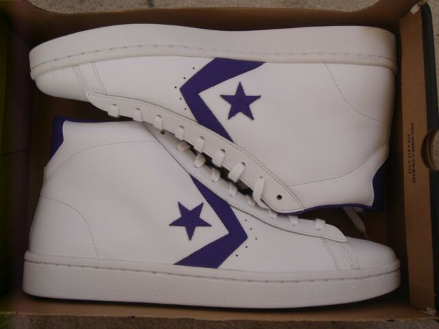 Converse Pro Leather 76 Mid White candy Grape 156692c US Mens 11 for ... d7839cc70