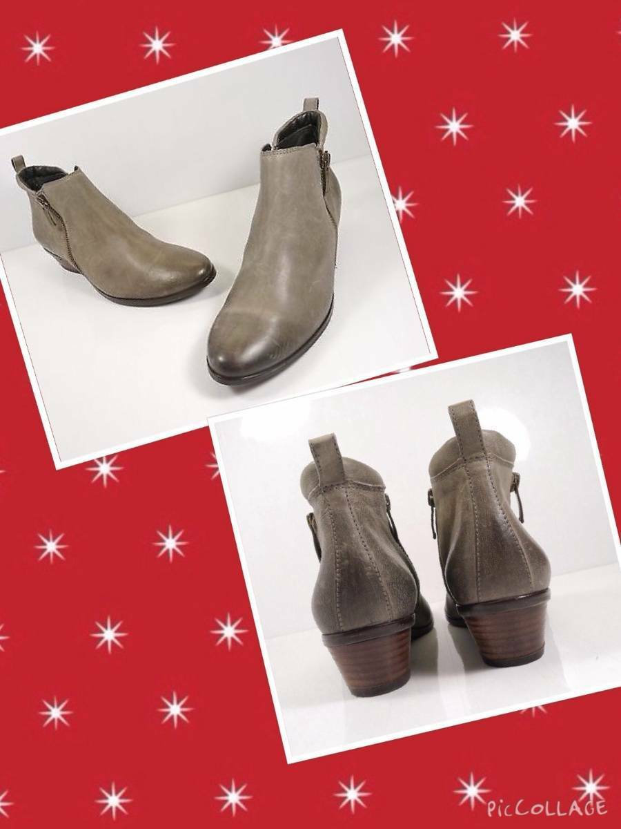 PAUL GREEN sz 6US,95US 'Barnes' Ankle Boot Olied Leather Gray
