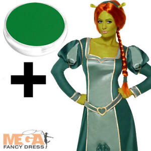 Image is loading Princess-Fiona-Shrek-Ladies-Fairytale-Halloween -Fancy-Dress-  sc 1 st  eBay & Princess Fiona Shrek Ladies Fairytale Halloween Fancy Dress Costume ...