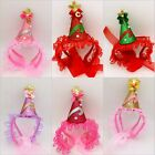 New Birthday Party Hat  Lace Cap Holiday gifts for Pet Cat Dog Festive Dress Up