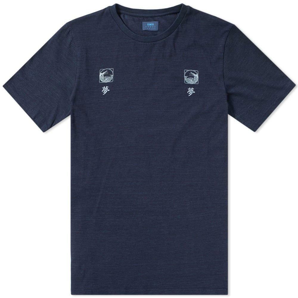 Edwin Waves T-Shirt - Indigo