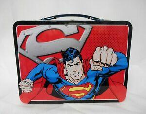 NEW-034-SUPERMAN-034-Man-of-Steel-Tin-Tote-from-Vandor