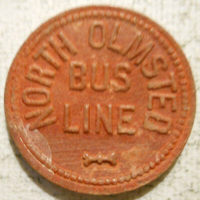school transit token OH660D North Olmsted Bus Line Ohio