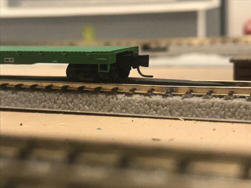Z SCALE BLACK FITS ROKUHAN MODEL TRAIN TRACK RERAILER FREE SHIPPING