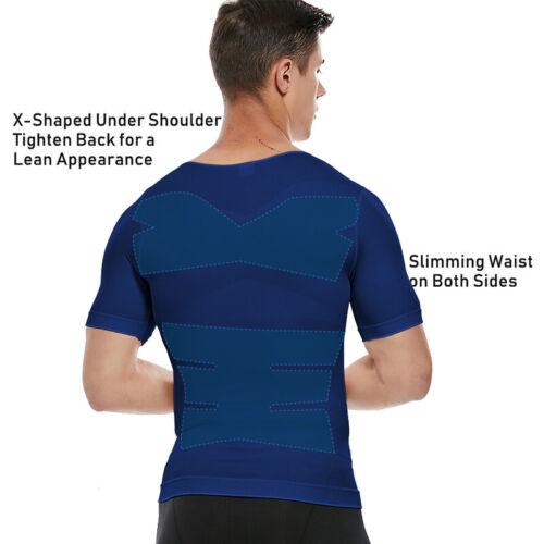 Men/'s Compression Slimming Body Shaper Abs Abdomen Vest Gynecomastia Undershirts