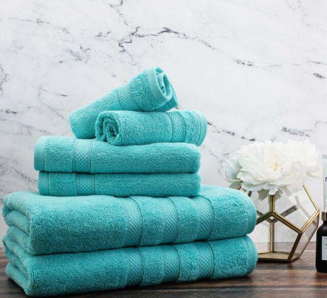 Espalma Hotel Zero Twist 6 Piece 100 Cotton Bath Towel Set In Silver Hdp For Sale Online Ebay