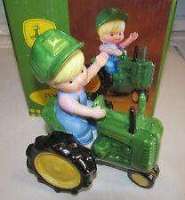 Enesco John Deere Girl On Tractor Porcelain Figurine NEW 892645 2000