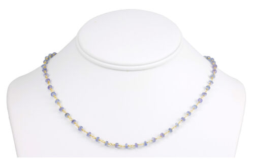 Natural Tanzanite Beaded 14k Gold Filled Chain Necklace Spyglass Designs 18 Inch