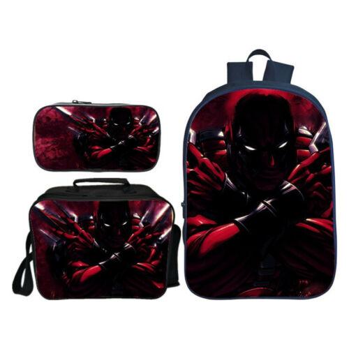 Personalised Deadpool Junior Backpack Pencil Case Lunch Bag for Boy Kid Nursery