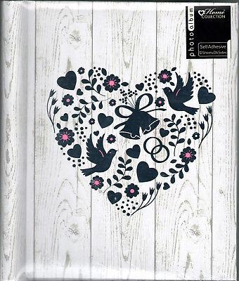 Weiß Selbstklebend Hochzeit Fotoalbum Silber Herz Design 10 X 12 Cecj Modern Und Elegant In Mode