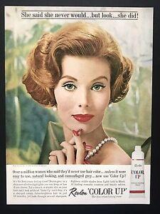 1961 Vintage Impresión Anuncio Revlon Creme Tinte Rojo Barra de Labios