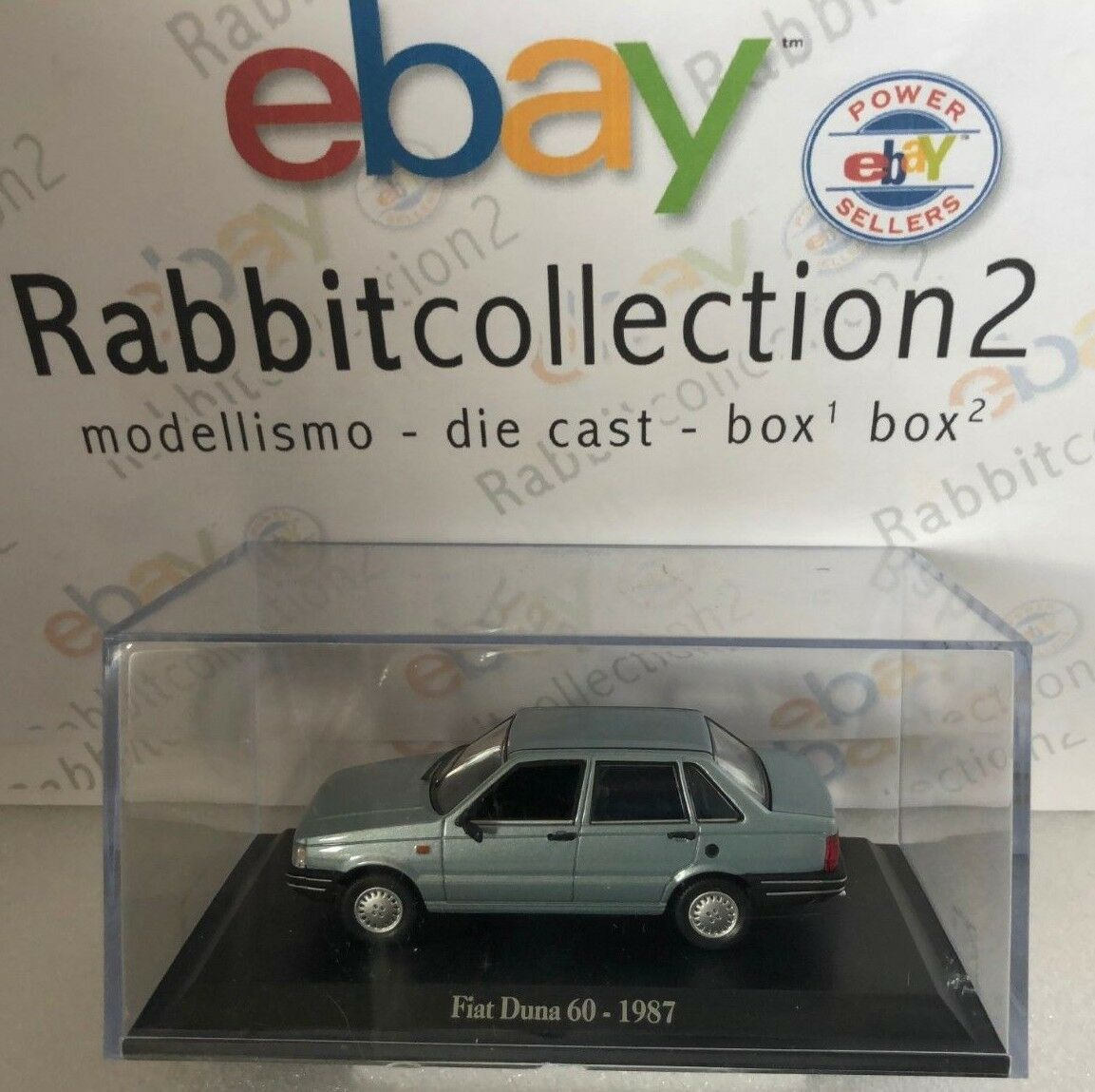DIE CAST   FIAT DUNA 60 - 1987   + COURSE RIGID BOX 2 SCALE 1 43