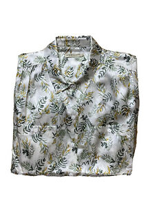 R M Williams Womens Size 14 Silk Button Up Collared Shirt Long Sleeves Collared