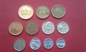 Lot of 11 coins from Czech Republic, all circulating coins included