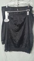 2 Pack Wondermaid 20 Long Black Half Slips Size 3x