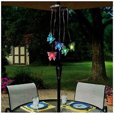 Butterfly Mobile Parasol Light Multi Coloured Garden Umbrella Fairy Light LED