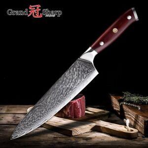à Condition De Chef Couteau 67-couche Vg10 D'acier Damas Japonais Professionnel Couteaux De Cuisine-afficher Le Titre D'origine