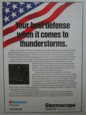 6/1991 PUB BF GOODRICH FOSTER STORMSCOPE II WEATHER MAPPING SYSTEMS AD