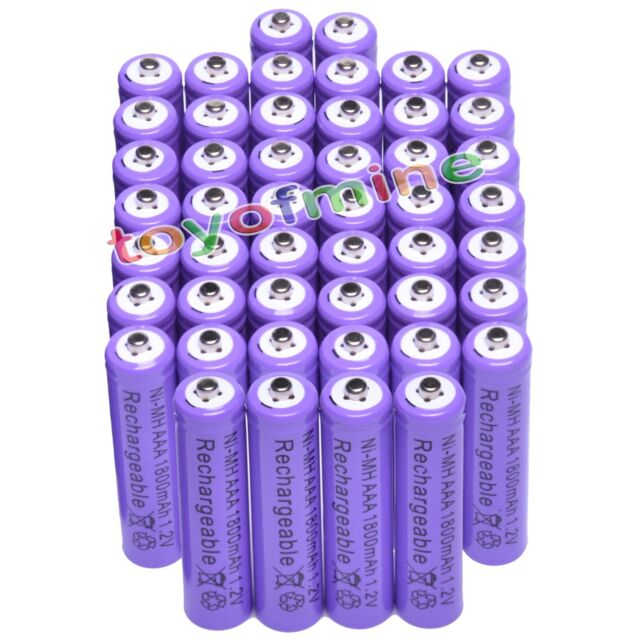 48pcs AAA 3A 1800mAh1.2V Ni-MH Rechargeable battery for Camear Controller Purple