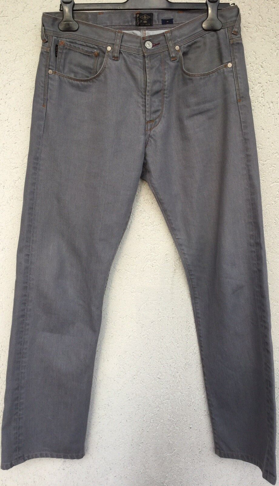 BNWOT Paul Smith superb grey cotton twill jeans with detail in 32in 81 cm waist