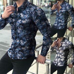 Mens-Plus-Size-T-shirt-Lapel-Collar-Long-Sleeve-Shirts-Business-Office-Work-Tops