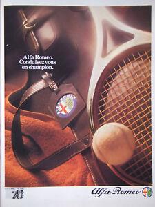 PUBLICITE-DE-PRESSE-1985-ALFA-ROMEO-CONDUISEZ-VOUS-EN-CHAMPION-TENNIS