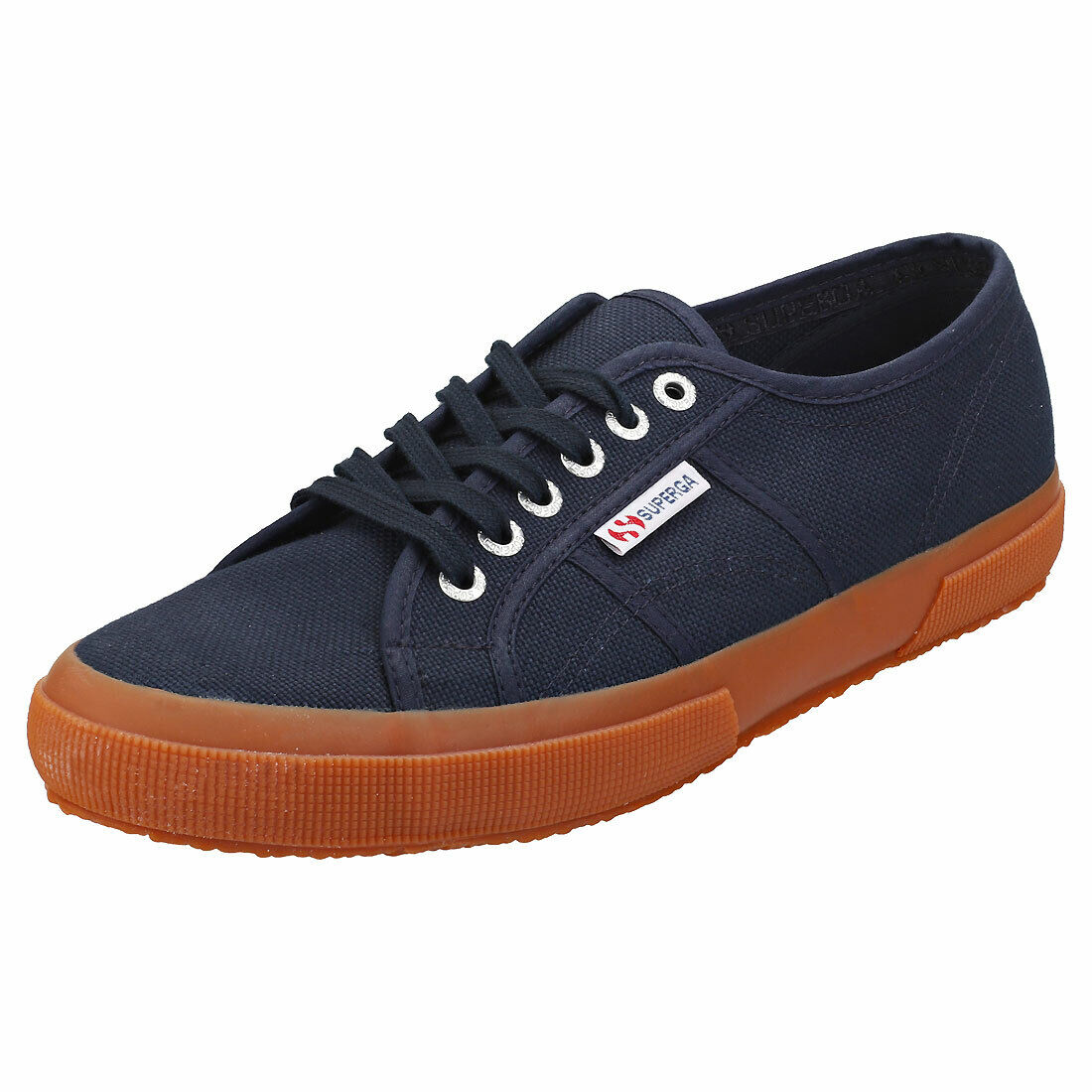 Superga 2750 Cotu Classic Mens Navy Gum Canvas Plimsoll Trainers