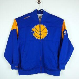 Golden State Warriors Mitchell   Ness Mens 3XL 56 Warmup Jacket HWC ... c1e8783e4