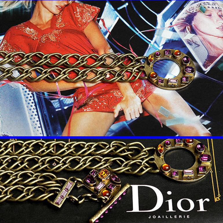 ,120 CHRISTIAN DIOR Chain D BELT w/Price Tag